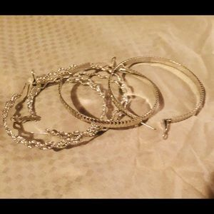 Two Pairs of Bangle Earrings. NWOT